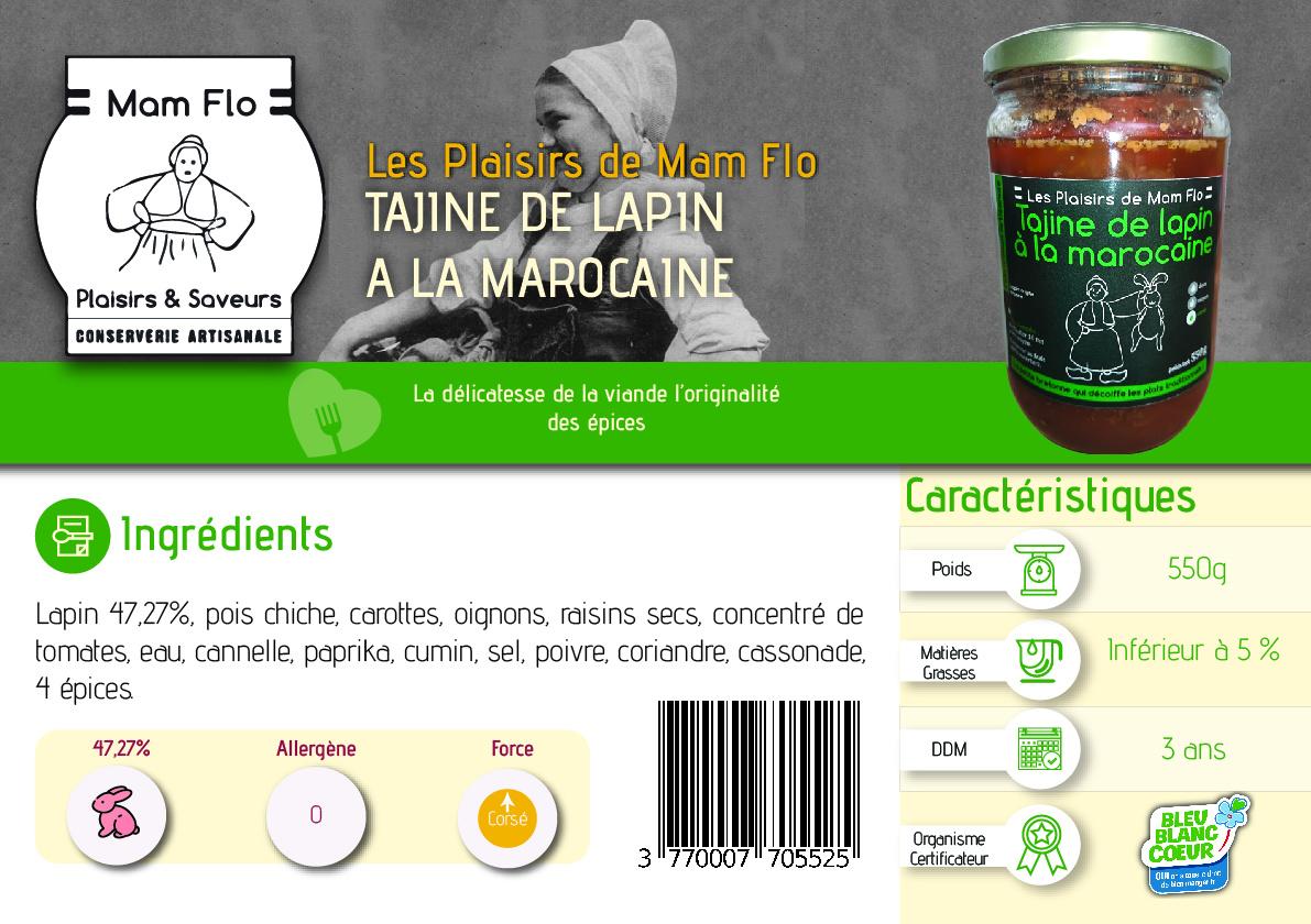 tajine de lapin à la marocaine