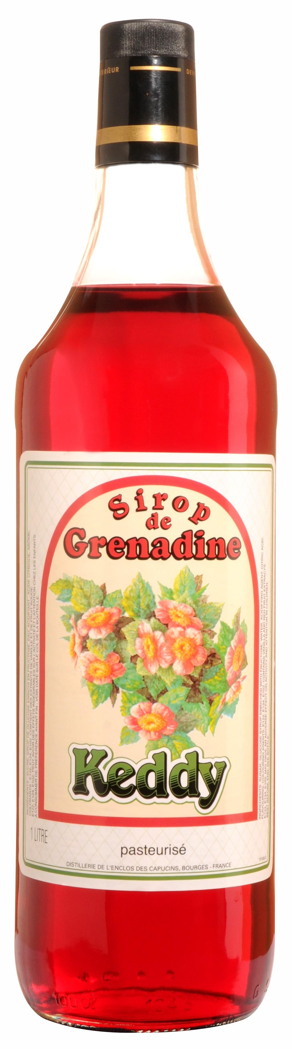 Sirop de grenadine, citron, fraise..