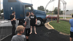 Dave all wet from dunk tank