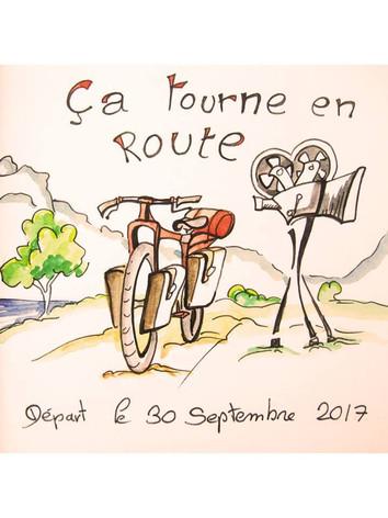 Premier dessin de l'aventure !  RDV à 10h sur la place de la Biolle !