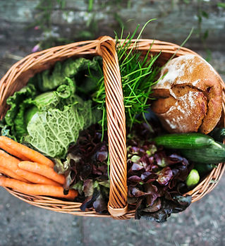 Fresh Vegetables in Basket sustainable shopping