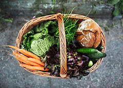 Свежие овощи в корзине