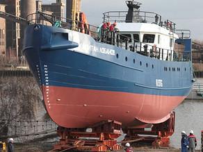 В Светлом спущено на воду рыбопромысловое судно