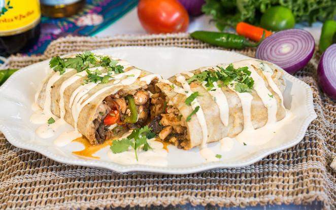 Eric's Famous Burrito w_ Steak, Chicken