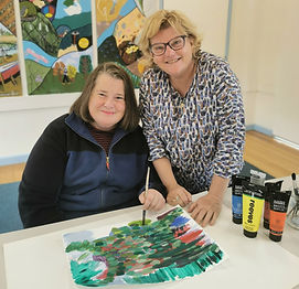 Art for all abilities - Jane and Janis (