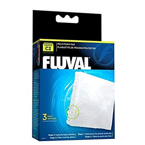 Fluval Poly Foam Pad - 3-Pack (for C2)
