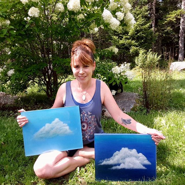 Conversations with Clouds...if u stop and listen.... Clouds captured in 3d resin art. A cloud told m