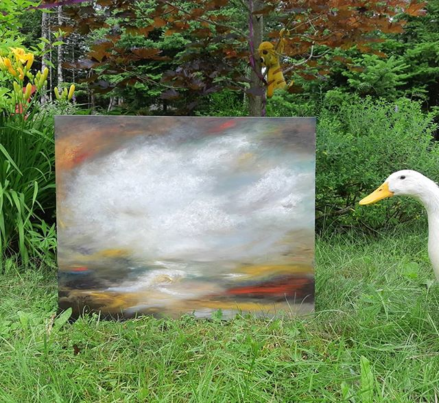 She will go wherever the wind may take her e 24x36 oil
