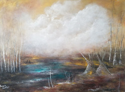 The Magic of the birches 12x16