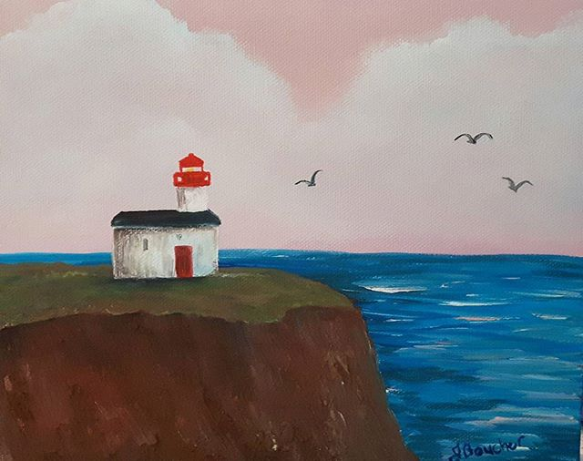 Another fun painting painted with authentic Bay of Fundy mud and acrylics