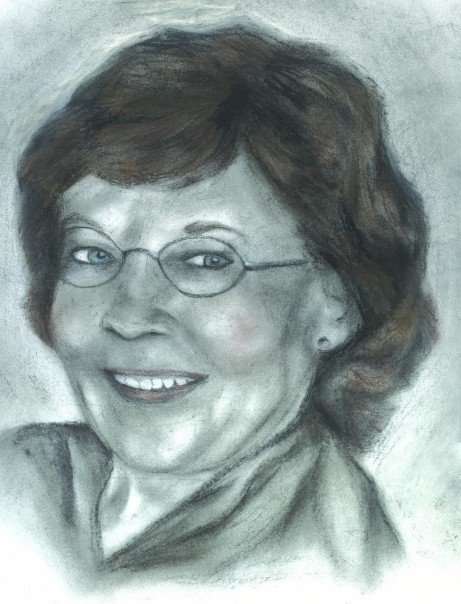Mom - pastels, conte, charcoal, pencils