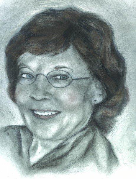Mom - pastels, conte, charcoal, pencils