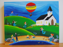 Mermaids can go to church too 16x20 Jacquie Boucher