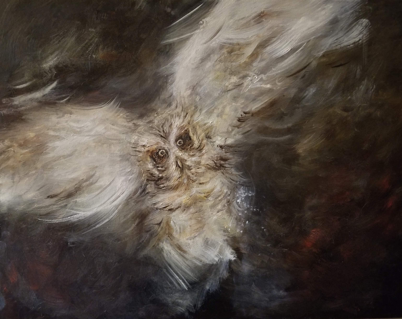 Spirit of the owl16x20 Oils