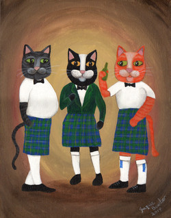 Cats in kilts