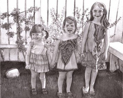 Me and Sisters - pencil