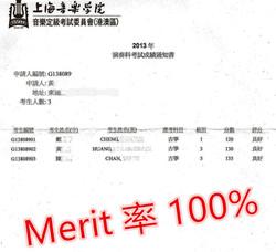 Merit 100%