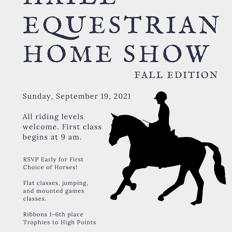 Haile Equestrian Fall Home Show