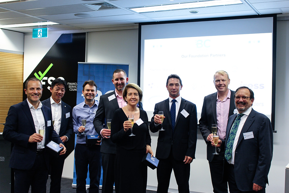 Left to Right:  Doug Bryden of Fidelity International; Mytech Trinh of Schroder Investment Management Australia Limited; Mark Neary Milestone Group; Ben Duncalf of Aberdeen Standard Investments; Kirsty Gross of IRESS; Gordon Little of BC Gateways; Keith McLachlan of Pengana Capital; Andy Hutchings Broso of BC Gateways