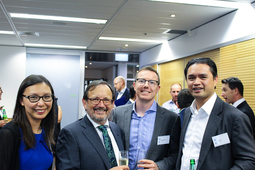Left to Right: Kristy Ng of RBC Investor and Treasury Services; Andy Hutchings Broso of BC Gateways; Scott Davies of RBC Investor and Treasury Services, Tan Do of JP Morgan