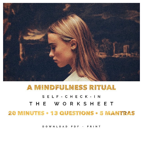 A MINDFULNESS RITUAL - WORKSHEET