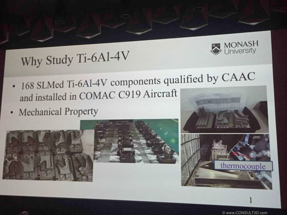 SLM parts on COMAC C919 aircraft