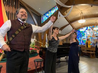 baritone Mark Delavan and mezzo-soprano Kathryn Krasovec at Opera at Florham