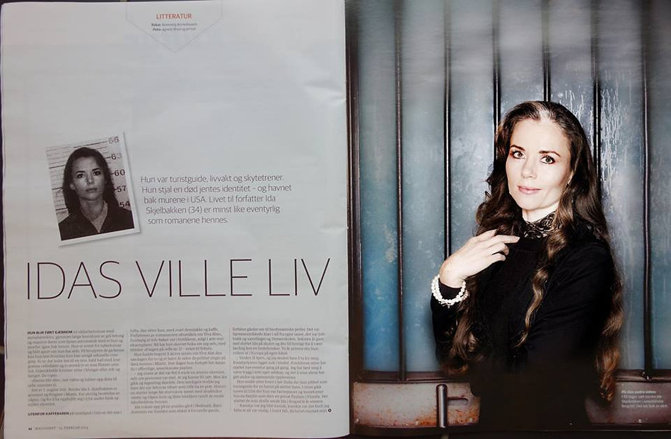 Romanserieforfatter Ida Skjelbakken skrevbok i fengsel.