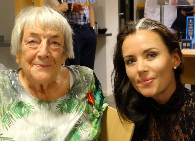 Med Margit Sandemo på Bladkompaniets Jubileumsfest