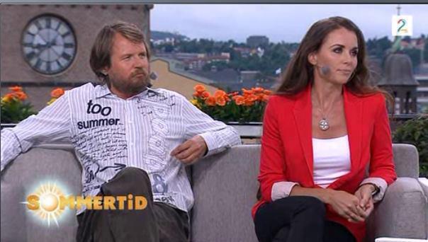 """Som gjest med Tom Egeland på """"Sommeråpent""""."""