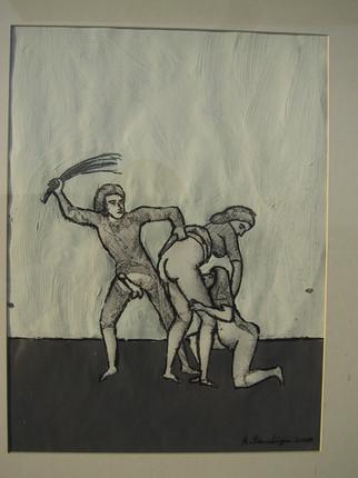 Zeichnung nach Marquis de Sade