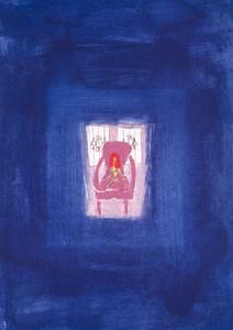 "Lithographie ""Akt auf Sessel im Atelier 1"""