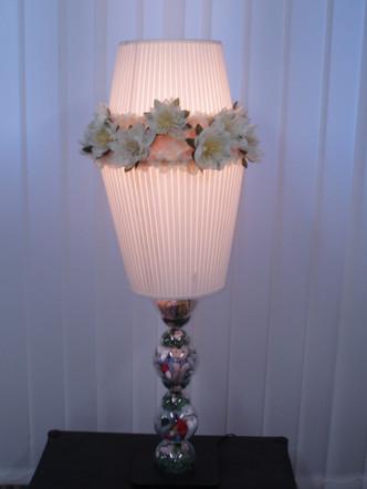 Stehlampe weiss