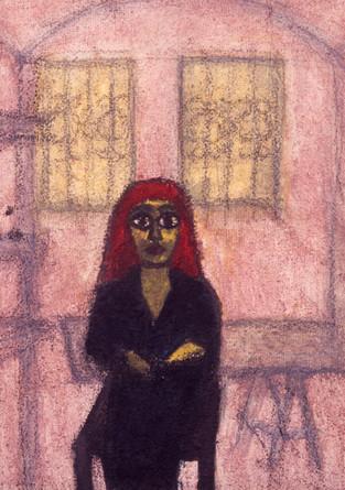 Kristina im Atelier