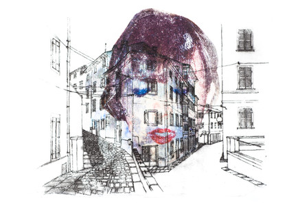 Graphotypie Porträt 2