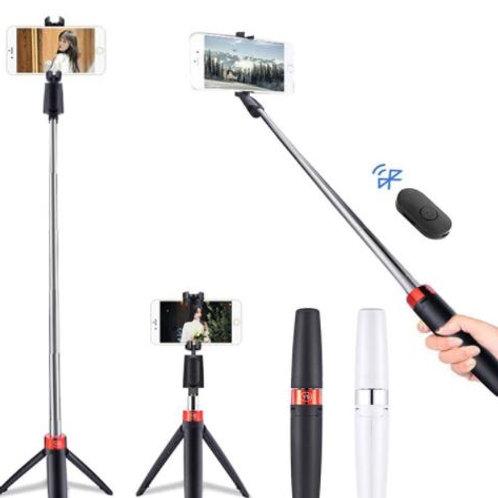 Tripod  & Selfie Stick w/ Detachable Wireless Remote Extendable w/ Bluetooth