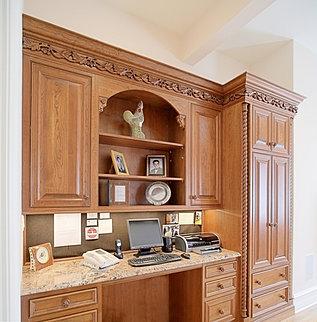 ornate kitchen desk