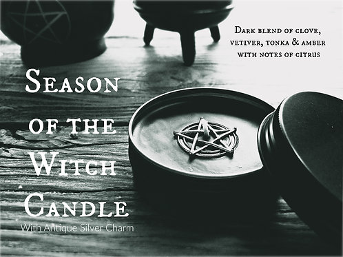 Clove & Amber Candle with Pentacle Charm