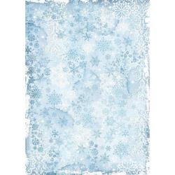 Stamperia Rice Paper Sheet A3 Snowflakes, Winter Tales