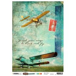 Studio Light Just Lou Aviation Rice Paper Sheet A4 NR. 13