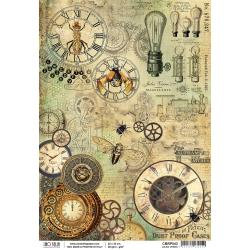 Ciao Bella Rice Paper Sheet A4 ~Jules Verne, Voyages Extraordinaires