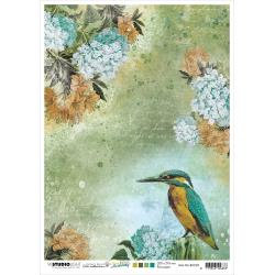 R. 05, Kingfisher/Flowers