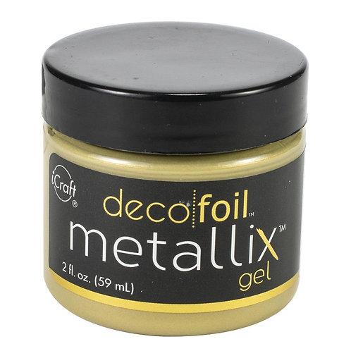 Deco Foil Metallix Gel 2oz~Pure Gold