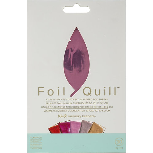 """We R Memory Keepers Foil Quill Foil Sheets 4""""X6"""" 30/Pkg~Flamingo"""