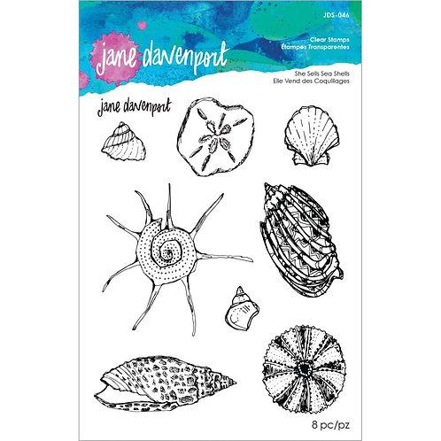 Spellbinders Clear Stamp Set By Jane Davenport~She Sells Seashells
