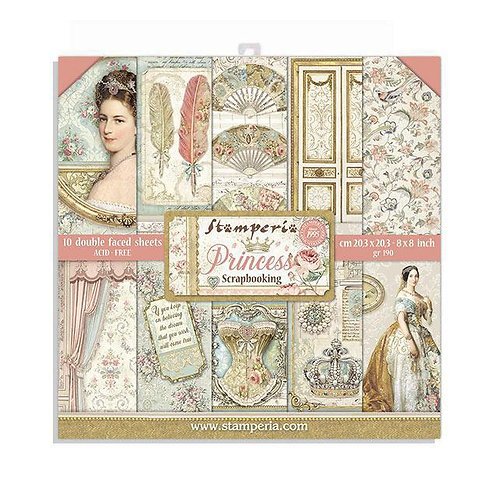 Stamperia~PRINCESS -PAPER PAD 8X8 10PK