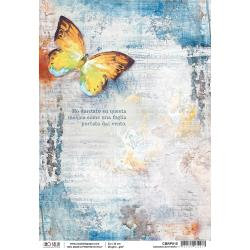 Ciao Bella Rice Paper Sheet A4 Dancing Butterfly, Sound Of Spring
