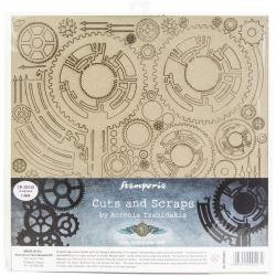 """Stamperia Greyboard Cut-Outs 11.8""""X11.8"""" 1mm Thick Clock & Hands"""