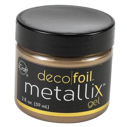 Deco Foil Metallix Gel 2oz~Aged Copper