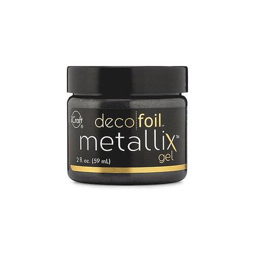 Deco Foil Metallix Gel 2oz~Black Ice